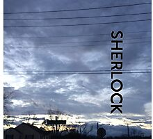 BBC Sherlock Blue Skyline. Shirt, Wallet, Case, Journal, Pillow, and Tote  Photographic Print