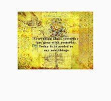 Uplifting, Positive Rumi quote Unisex T-Shirt