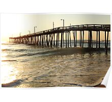 Nags Head Pier at Sunrise, the Outer Banks, North Carolina Poster