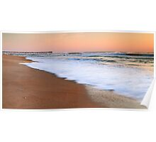 Morning Surf on the Beach, Nags Head, North Carolina Poster