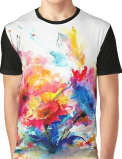 """Watercolor Garden"" Graphic T-Shirt"