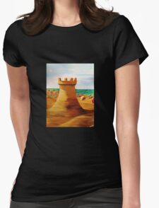 SAND CASTLE Womens Fitted T-Shirt