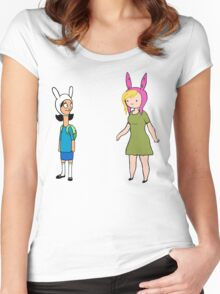 Fionna and Louise Crossover Women's Fitted Scoop T-Shirt