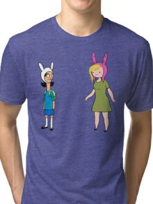 Fionna and Louise Crossover Tri-blend T-Shirt