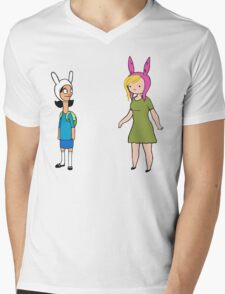 Fionna and Louise Crossover Mens V-Neck T-Shirt