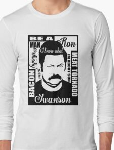 Ron Swanson parks and rec  Long Sleeve T-Shirt