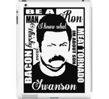 Ron Swanson parks and rec  iPad Case/Skin