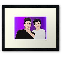 Dolan Twins   Grayson and Ethan Dolan Framed Print