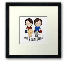 2016 Exclusive Bowl-4-Animal Rescue Design Framed Print