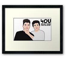 Dolan Twins   Grayson and Ethan Dolan Fan Art Framed Print