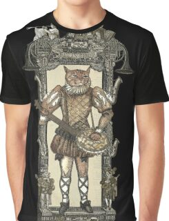 Banjo Cat with Frame Graphic T-Shirt