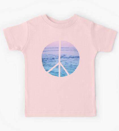 Waves and Peace Kids Tee