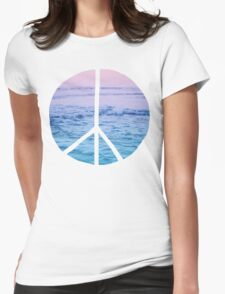 Waves and Peace Womens Fitted T-Shirt
