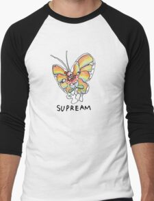Supreme 'SUPREAM' Butterfly - White/Red/Blue/Grey/Beige Men's Baseball ¾ T-Shirt