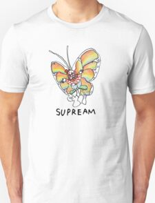 Supreme 'SUPREAM' Butterfly - White/Red/Blue/Grey/Beige T-Shirt