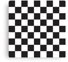 Checkerboard Black and White Blocks Canvas Print