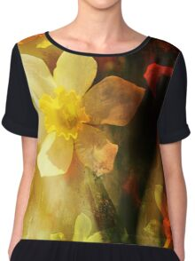 Daffie Dreams Abstract Chiffon Top
