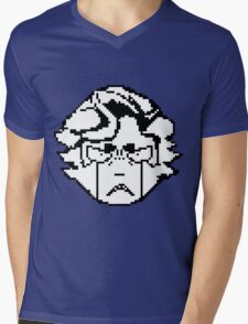 Ingo's angry pixel face Mens V-Neck T-Shirt