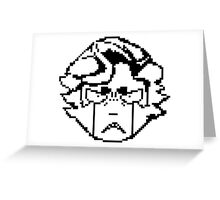 Ingo's angry pixel face Greeting Card