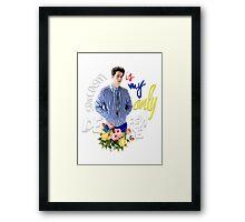 Stiles Quote  Framed Print