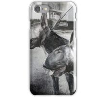 BULL TERRIER - double take iPhone Case/Skin