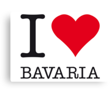 I ♥ BAVARIA Canvas Print