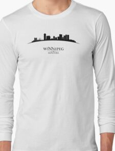 Winnipeg Manitoba Cityscape Long Sleeve T-Shirt
