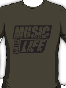 Cool Music is my life Design T-Shirt
