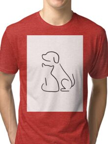 Cat & dog Tri-blend T-Shirt