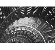 Spiraling Stairs Architectural Abstract Photographic Print