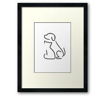 Cat & dog Framed Print