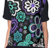 Hearts, Flowers and Butterflies Chiffon Top