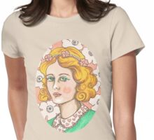"""Priscilla"" Retro Portrait Illustration Womens Fitted T-Shirt"