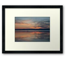Surfer Rowing To Shore Framed Print