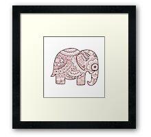Pink Mandala Elephant Framed Print