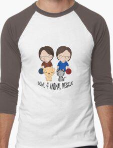 2016 Exclusive Bowl-4-Animal Rescue Design Men's Baseball ¾ T-Shirt