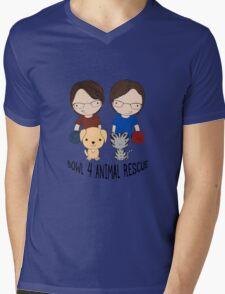 2016 Exclusive Bowl-4-Animal Rescue Design Mens V-Neck T-Shirt