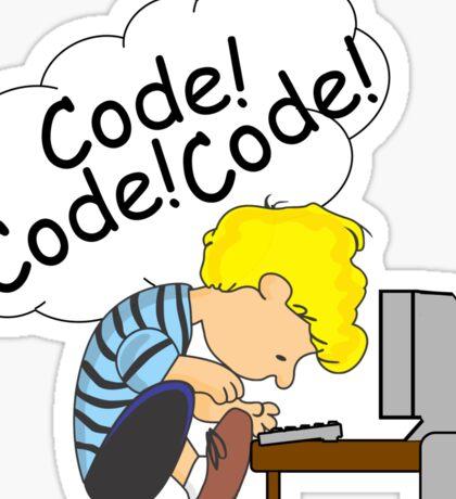 Code! Code! Code! Sticker
