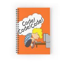 Code! Code! Code! Spiral Notebook