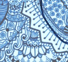 Blue Mandala Elephant Sticker