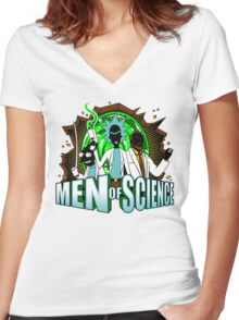 Men of Science Women's Fitted V-Neck T-Shirt