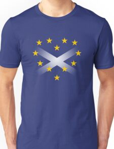 EU Heart with Scotland Saltire Flag Unisex T-Shirt