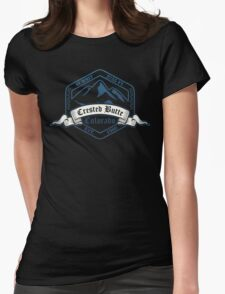 Crested Butte Ski Resort Colorado Womens Fitted T-Shirt