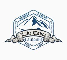 Lake Tahoe Ski Resort California Kids Tee