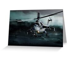 Mi 24 Hind Greeting Card