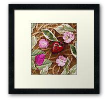 Peace heart of love Framed Print