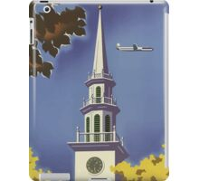 United Air Lines New England Vintage Travel Poster iPad Case/Skin