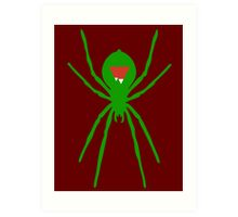 Peak Spider (Green) Art Print