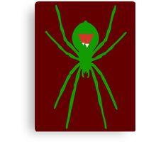 Peak Spider (Green) Canvas Print
