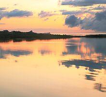Pamlico Sound Sunset, Hatteras Island, North Carolina by Roupen  Baker